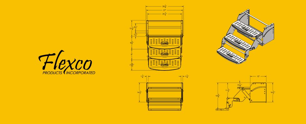 Aluminum Triple Step w 8 Drop Drawing RV