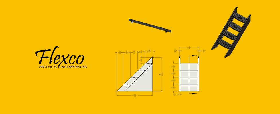 Step Ladder Drawing rv