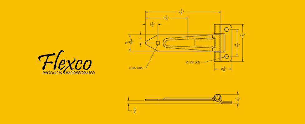 Hinge 80701 Drawing rv