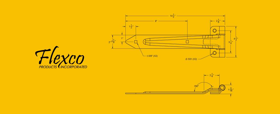 Hinge 80702 Drawing rv