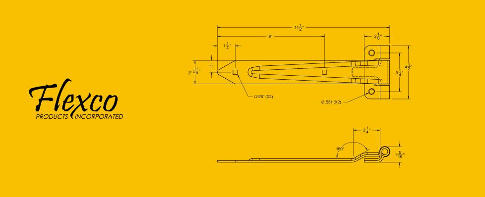 Hinge 80702 Drawing