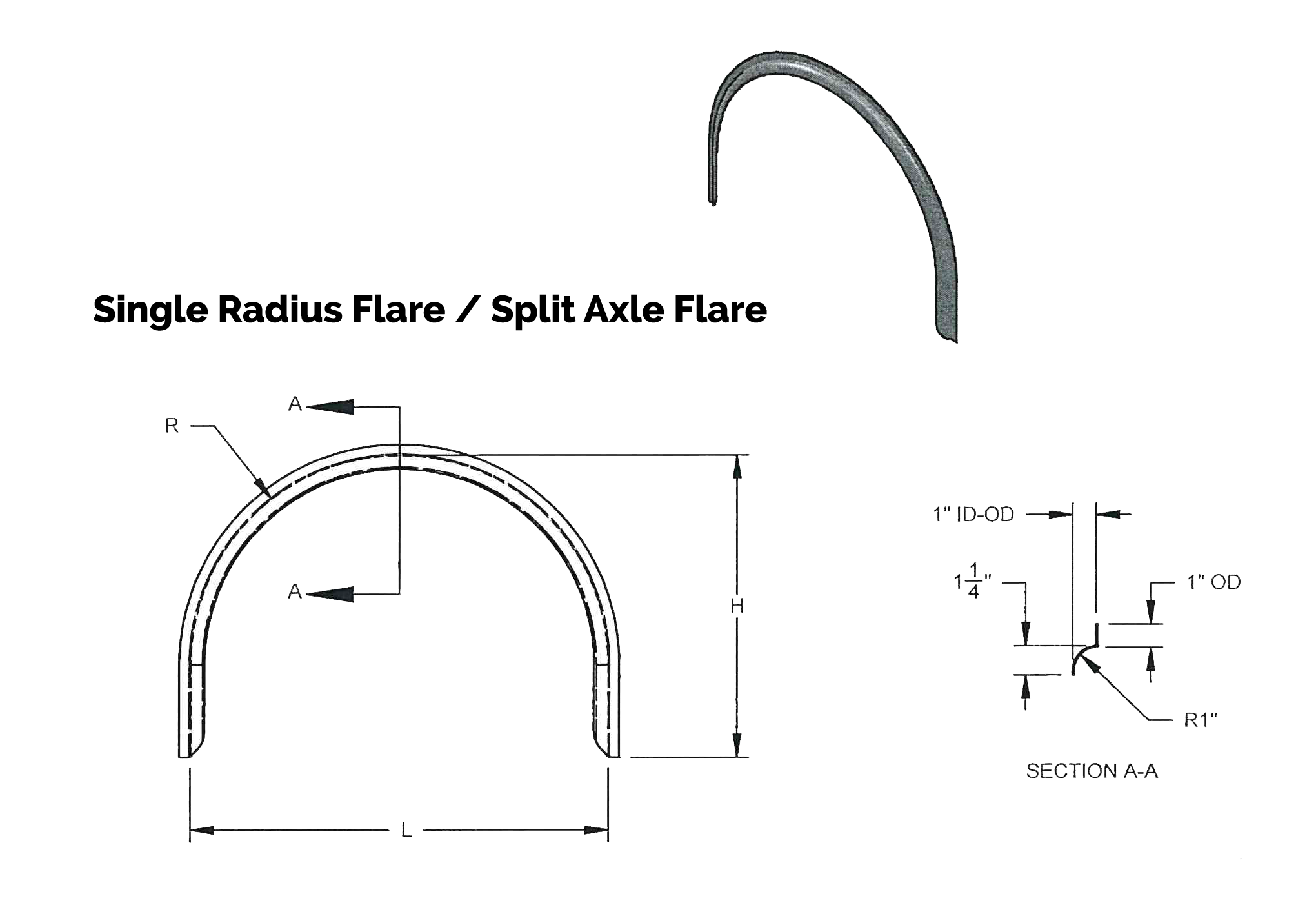 Single Radius Flare